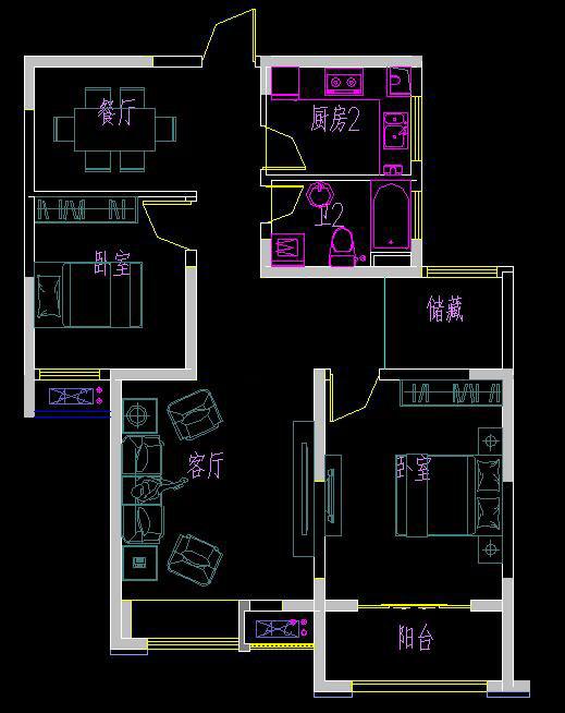 西华园电梯4楼两室两厅,南北通透,毛坯现房。