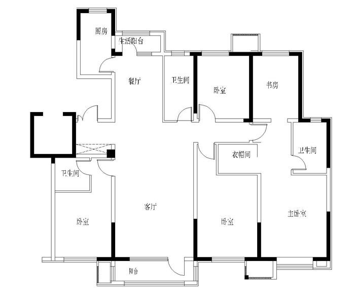 格调一品多层洋房二楼边户193平五室两厅毛坯现房【暂缓】