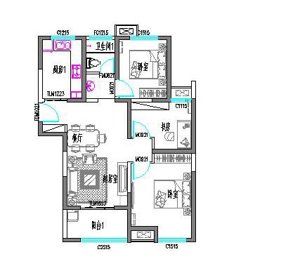 丽晶国际二期电梯12楼东边户,98平三室两厅,毛坯现房。