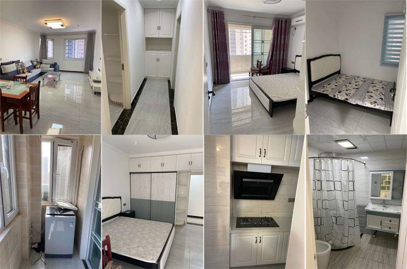 城北新区金泰名城5楼精装2室,家具家电齐全,年租1万7