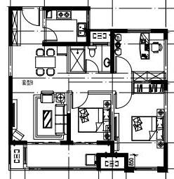 北辰花园13楼105平三室两厅,价格46万。