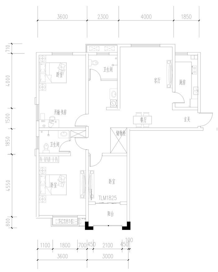 新城尚品电梯15楼131平毛坯现房三室两厅价格66万