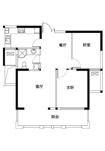 龙城国际电梯11楼,总高18楼,86平两室两厅,毛坯现房,价格52万