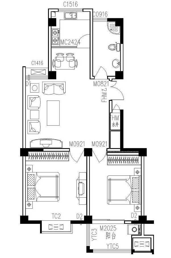 李岳小区二期电梯7楼总高11楼,98平两室两厅,毛坯现房,产证齐全。