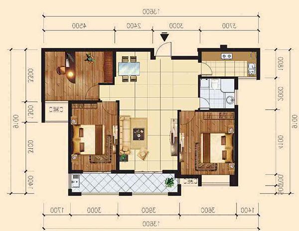大儒世家115平,中间楼层,毛坯现房,三室两厅,产证齐全可贷款。
