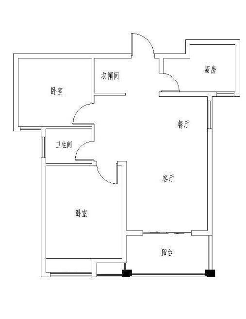 天虹世纪城电梯二楼,总高16楼,84平两室两厅普通装修,送储藏室。